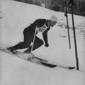 Austrian Skier Toni Sailer Competing During the Winter Olympics