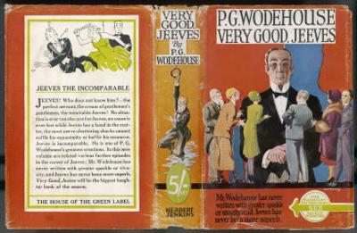 Dust Jacket of Very Good Jeeves by Author: Sir