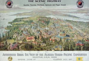 """Authorized Birds Eye View of the Alaska-Yukon-Pacific Exposition: Seattle, USA, 1909"""