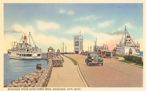 Auto Ferry, Mackinaw City, Michigan