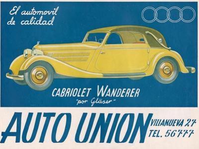 Auto Union Audi, Magazine Advertisement, USA, 1930