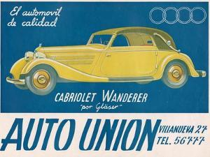 Auto Union Audi, Magazine Advertisement, USA, 1930