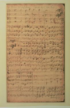 Autograph Manuscript, Cantata Bwv 180 'schmucke Dich O Liebe Seele' by J.S. Bach