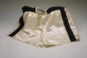 Autographed Fight Trunks from Muhammad Ali's World Championship Fight, 1974