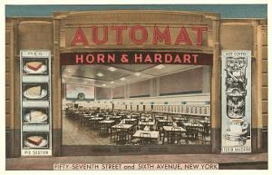 Automat, Horn and Hardart, New York City