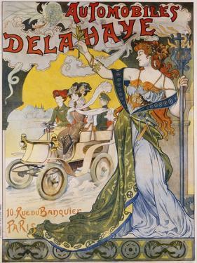 Automobiles Delahaye Poster