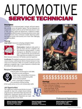 Automotive Service Technician - Educational Poster