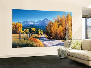 Autumn Landscape Huge Mural Art Print Poster Small