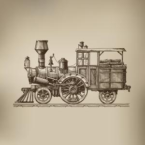 Locomotive. Vector Format by AVA Bitter
