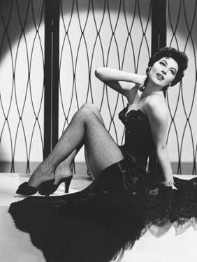 Ava Gardner in the 50's (b/w photo)