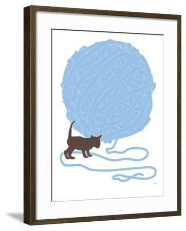 Blue Ball of Yarn by Avalisa