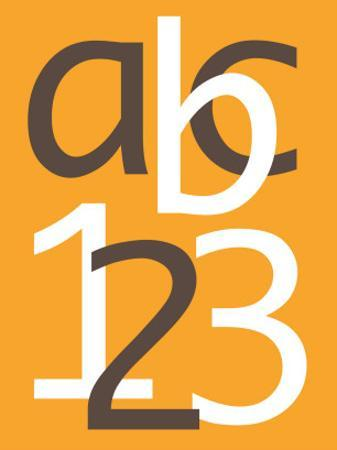 Orange ABC and 123 by Avalisa