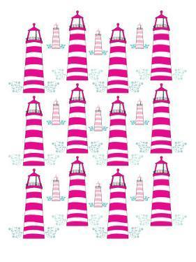 Pink Light House Pattern by Avalisa