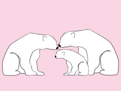 Pink Polar Bears by Avalisa