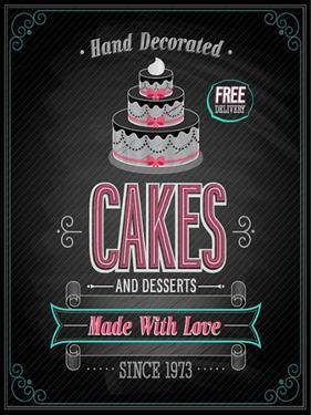 Cakes Poster - Chalkboard by avean