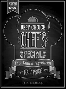 Chef's Specials Poster Chalkboard by avean