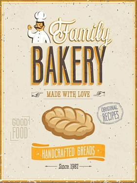 Vintage Bakery Poster by avean