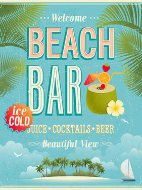 Vintage Beach Bar Poster by avean