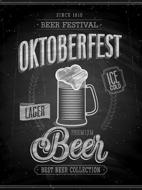 Vintage Beer Brewery Poster - Chalkboard by avean