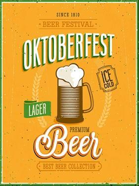 Vintage Beer Brewery Poster by avean