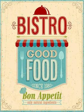 Vintage Bistro Poster by avean