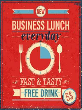 Vintage Bussiness Lunch Poster by avean