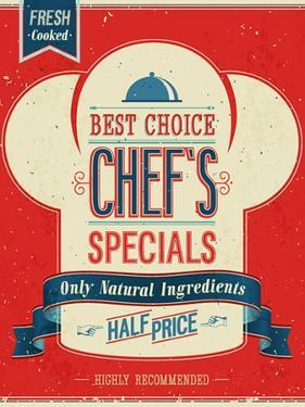 Vintage Chef`S Specials Poster by avean