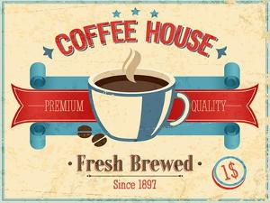 Vintage Coffee House Card by avean