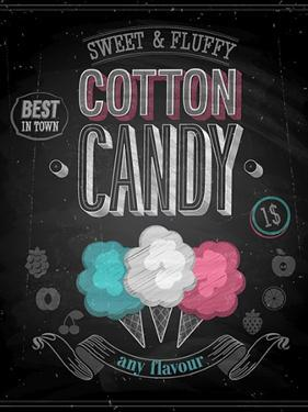 Vintage Cotton Candy Poster - Chalkboard by avean