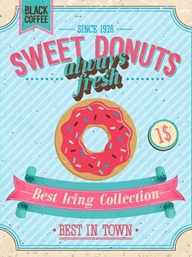 Vintage Donuts Poster by avean