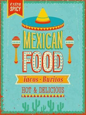 Vintage Mexican Food Poster by avean