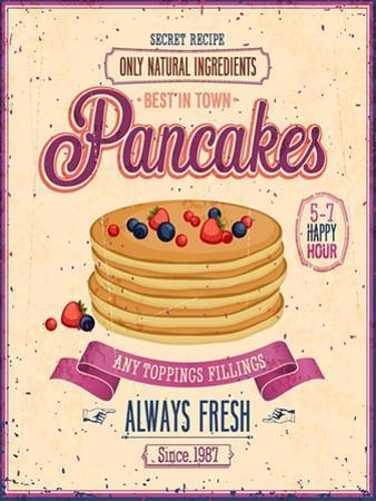 Vintage Pancakes Poster by avean