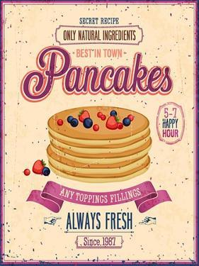 Vintage Pancakes Poster by avean