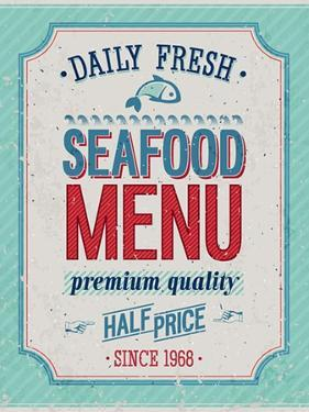Vintage Seafood Poster by avean
