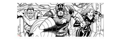 Avengers Assemble Inks Featuring Falcon, Captain America, Black Widow