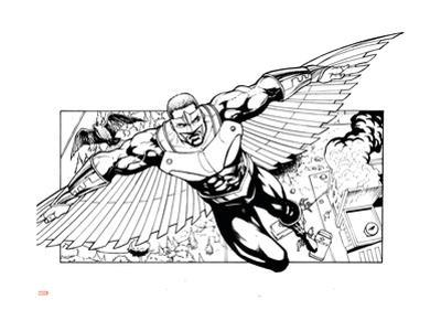 Avengers Assemble Inks Featuring Falcon