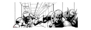 Avengers Assemble Inks Featuring Iron Man, Captain America, Thor