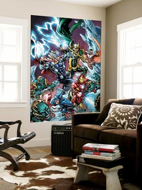 Avengers Assemble Panel Featuring Captain America, Iron Man, Thor, Loki, Falcon