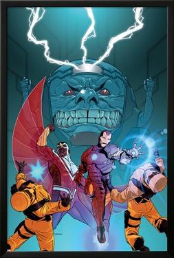 Avengers Assemble Panel Featuring Falcon, Iron Man, A.I.M., M.O.D.O.K