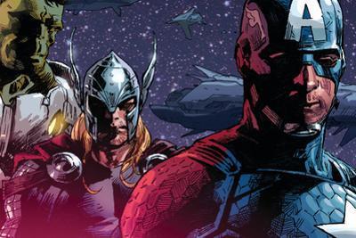 Avengers Assemble Panel Featuring Hulk, Thor, Captain America