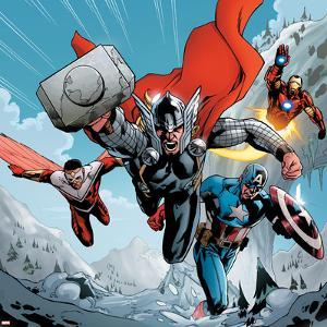 Avengers Assemble Panel Featuring Thor, Falcon, Captain America, Iron Man