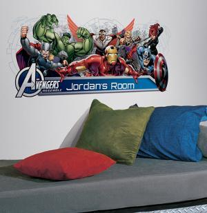 Avengers Assemble Personalization Headboard Peel and Stick Wall Decals