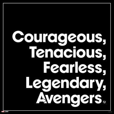 Avengers: Endgame - Courageous, Tenacious, Fearless, Legendary, Avengers