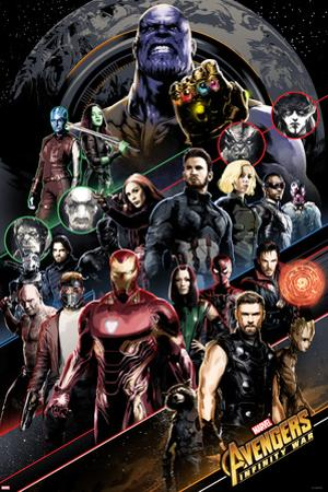Avengers: Infinity War - Group Diagonal