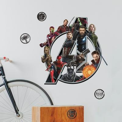 Avengers: Infinity War - Logo Peel And Stick Giant Wall Decals