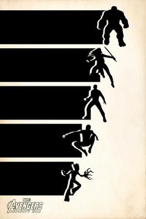 Avengers: Infinity War - Minimal Retro (Black)