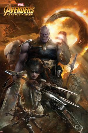 Avengers: Infinity War - Thanos and Proxima Midnight