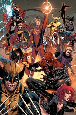 Avengers No. 17: Thor, Captain Marvel, Spider Woman, Wolverine, Spider-Man, Captain Marvel