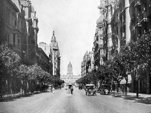 Avenida De Mayo (May Avenu), Buenos Aires, Argentina