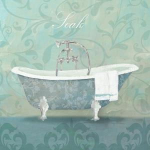 Damask Bath Tub by Avery Tillmon